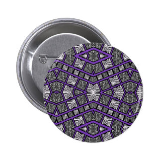 Purple Animal Print Abstract 2 Inch Round Button