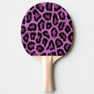 Purple animal print design ping pong paddle