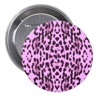 Purple animal skin print pattern 3 inch round button