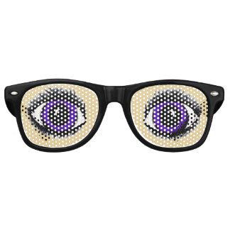 PURPLE ANIME (smaller eye version) EYE glasses Party Shades