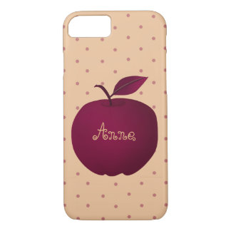 Purple Apple Romantic Polka Dots Pale Personalized iPhone 8/7 Case