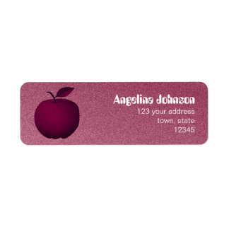 Purple Apple Sandstone Elegant Chic Fruit Female Return Address Label