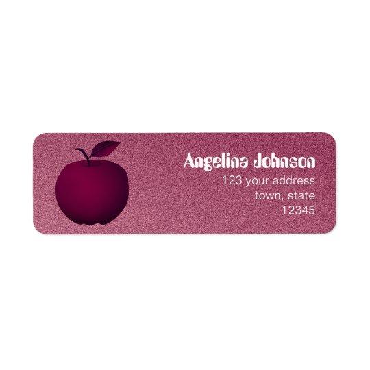 Purple Apple Sandstone Elegant Chic Fruit Female Return Address Label