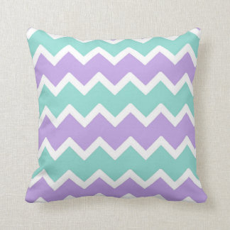 Purple Aqua Blue Chevron Pillow Baby Girl Nursery
