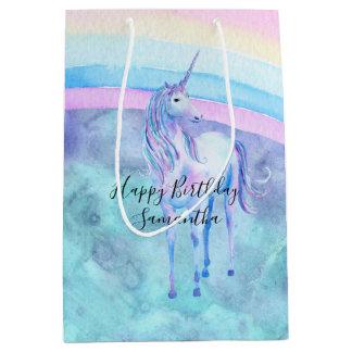 Purple Aqua Unicorn Dream Medium Gift Bag