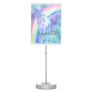 Purple Aqua Unicorn Dream Table Lamp