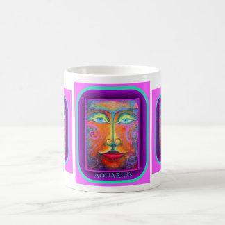 Purple Aquarius Birthday Gifts by Sharles Basic White Mug