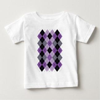 Purple Argyle Baby T-Shirt