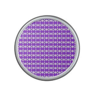 Purple Argyle Bumpster Speaker
