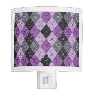 Purple Argyle Nite Lite