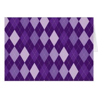 Purple argyle pattern card
