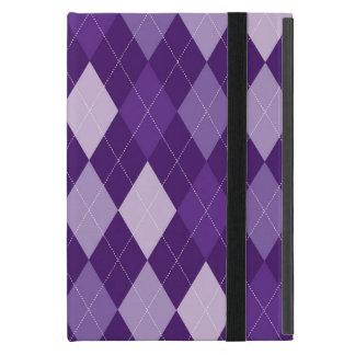 Purple argyle pattern cover for iPad mini