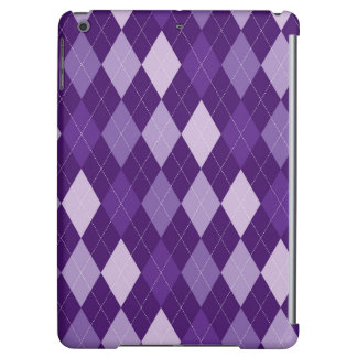 Purple argyle pattern iPad air case