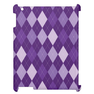 Purple argyle pattern iPad covers