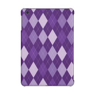 Purple argyle pattern iPad mini retina cases