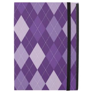 """Purple argyle pattern iPad pro 12.9"""" case"""