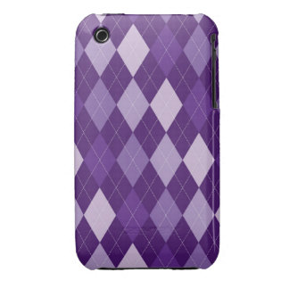 Purple argyle pattern iPhone 3 Case-Mate case