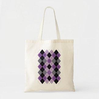 Purple Argyle Tote Bag
