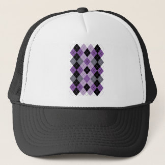 Purple Argyle Trucker Hat