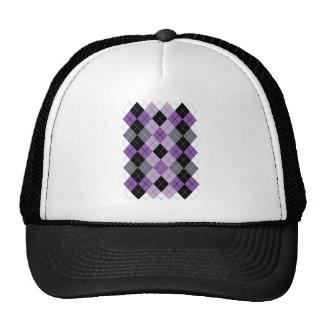 Purple Argyle Trucker Hat
