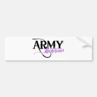 Purple Army Girlfriend Bumper Sticker