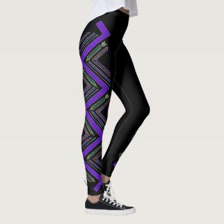Purple Arrow Zigzag Leggings