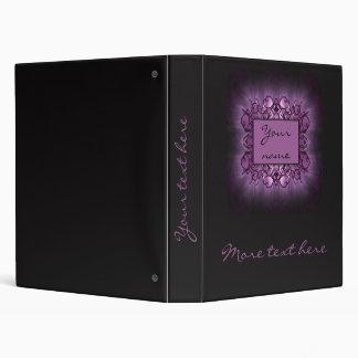 Purple Art 3 Ring Binder