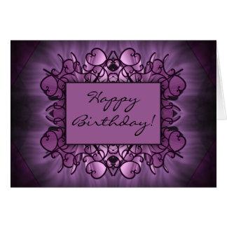 Purple Art Greeting Cards