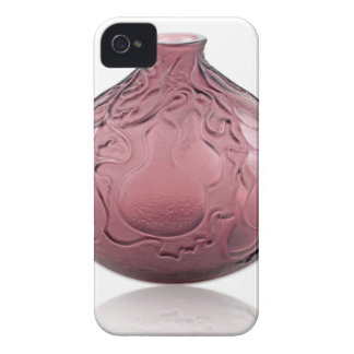 Purple Art Deco glass vase depicting pears. iPhone 4 Covers