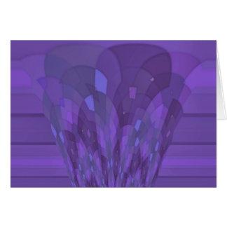Purple Art Deco Style Card