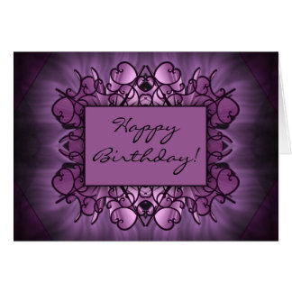 Purple Art Greeting Card