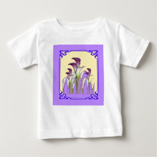 PURPLE ART  NOUVEAU CALLA LILY GARDEN ART BABY T-Shirt