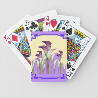 PURPLE ART  NOUVEAU CALLA LILY GARDEN ART BICYCLE PLAYING CARDS