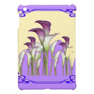 PURPLE ART  NOUVEAU CALLA LILY GARDEN ART iPad MINI CASE