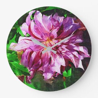 """Purple Aster"" Clock"