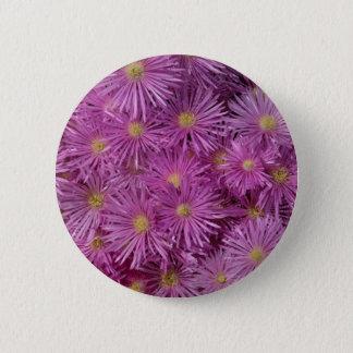 Purple Aster Flowers 2 Inch Round Button