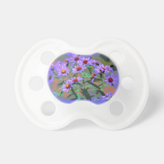 purple asters baby pacifier