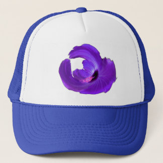 Purple Augmented Hibiscus Flower Color Changeable Trucker Hat