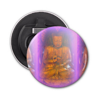 purple aura buddha bottle opener button bottle opener