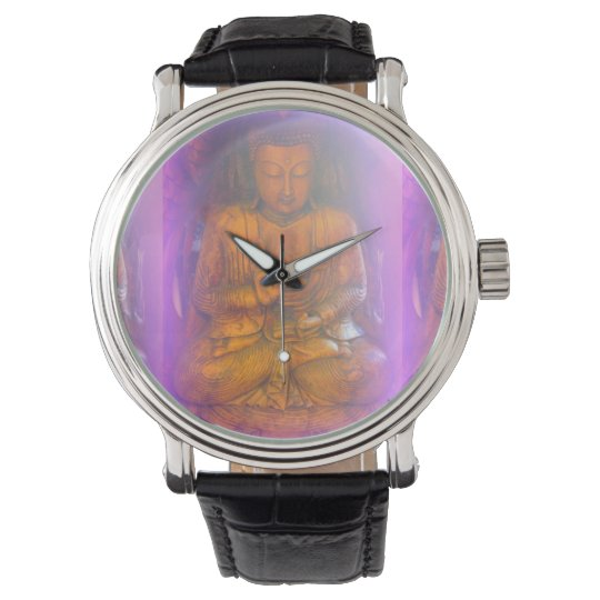 purple aura buddha watch