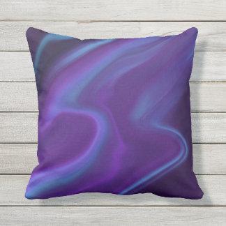 Purple Aurora Throw Pillow