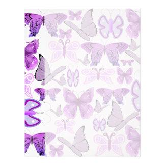 Purple Awareness Butterflies Letterhead
