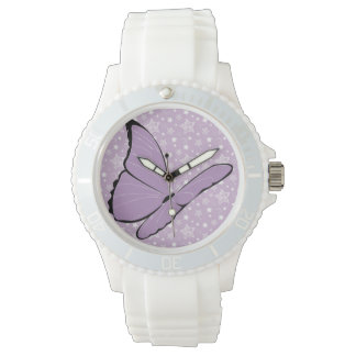 Purple Awareness Butterfly Watch