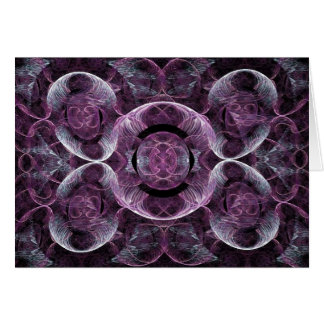 Purple Awareness Fractal Abstract Card