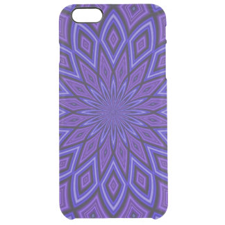 Purple Awareness Kaleidoscope Clear iPhone 6 Plus Case