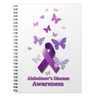 Purple Awareness Ribbon: Alzheimer's Disease Notebook