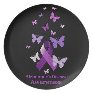 Purple Awareness Ribbon: Alzheimer's Disease Plate