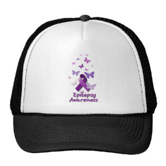 Purple Awareness Ribbon: Epilepsy Trucker Hat