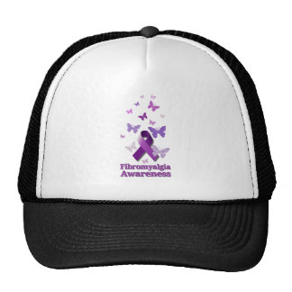 Purple Awareness Ribbon: Fibromyalgia Trucker Hat