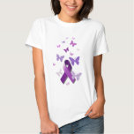 Purple Awareness Ribbon T Shirts